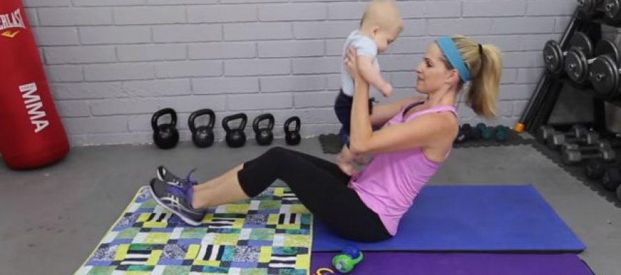 Trening sa bebom: Skinite višak kilograma nakon porođaja vrlo lako!